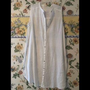 Eileen Fisher light weight linen shirt dress
